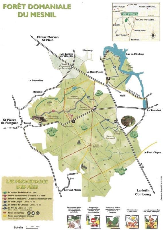 carte forêt du mesnil